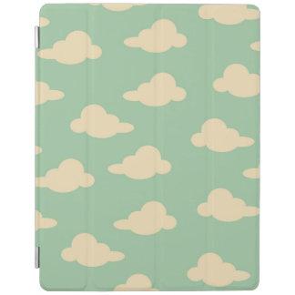 空パターンSeafoamおよびアイボリーのモダンの雲 iPadスマートカバー