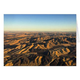 空中にからのWalla Wallaのワインの里 カード