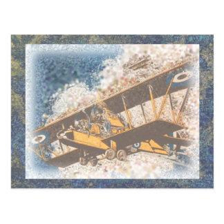 空中に翼の父の日 ポストカード