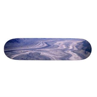 空中写真のローエルの氷河、Kluaneの国民 カスタムスケートボード