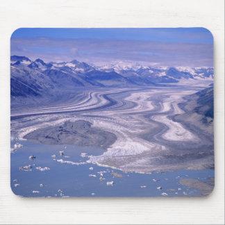 空中写真のローエルの氷河、Kluaneの国民 マウスパッド