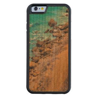 空中写真の太平洋の海岸線プエルトローペッツ CarvedチェリーiPhone 6バンパーケース