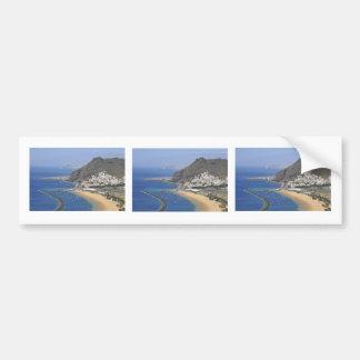 空中写真テネリフェ島の海岸 バンパーステッカー