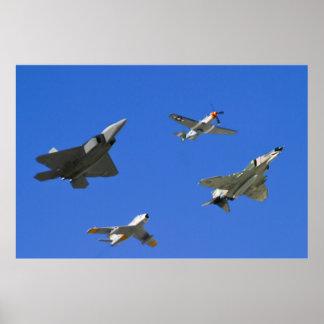 空中戦闘命令伝統飛行 ポスター