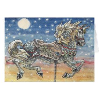 """""""空回転木馬""""の、メリーゴーランドの挨拶状 カード"""