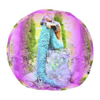 空想にふける人魚の円形のpouf プーフ