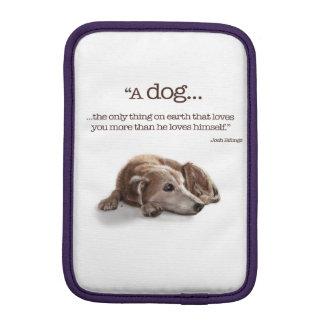 空想にふける犬のイラストレーション iPad MINIスリーブ