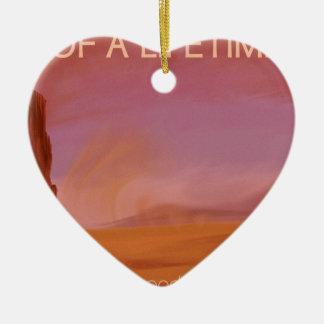 空想科学小説のヴィンテージの火星の休暇のイラストレーション セラミックオーナメント