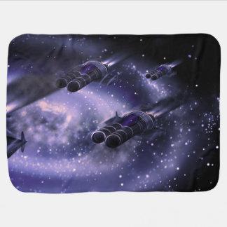 空想科学小説の宇宙船 ベビー ブランケット