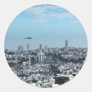 空想科学小説の都市景観 ラウンドシール