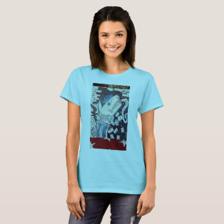 空手のチョップの鮫 Tシャツ