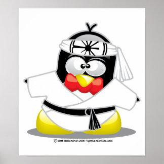 空手のペンギン ポスター