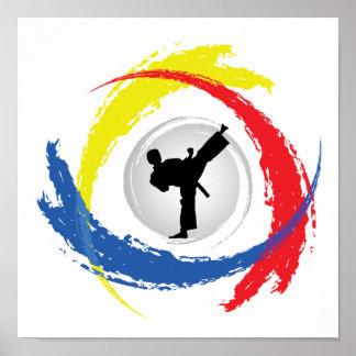 空手の三色の紋章 ポスター