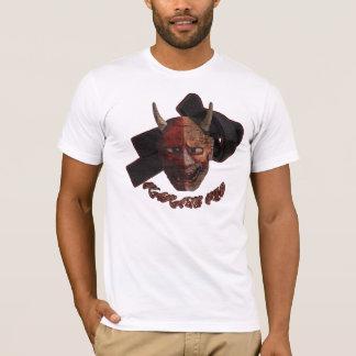 空手の子供の鬼のマスクのティー-決め付けられるFF Tシャツ