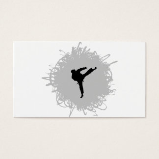 空手の走り書きのスタイル 名刺