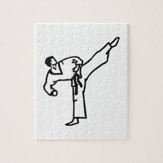 空手の蹴り ジグソーパズル