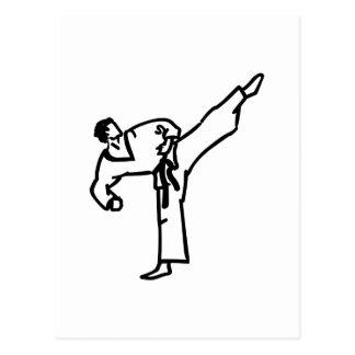 空手の蹴り ポストカード