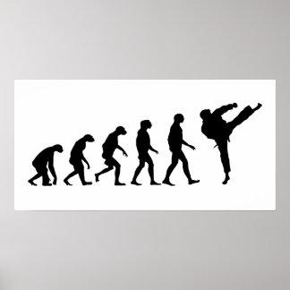 空手の進化 ポスター