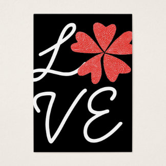 空手Katの愛開花の小さいバレンタイン 名刺