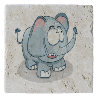 空検討している漫画のベビー象 トリベット
