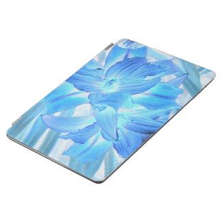 空気のようで青いユリ、冬の花柄のファンタジー iPad AIR カバー