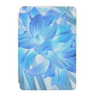 空気のようで青いユリ、冬の花柄のファンタジー iPad MINIカバー