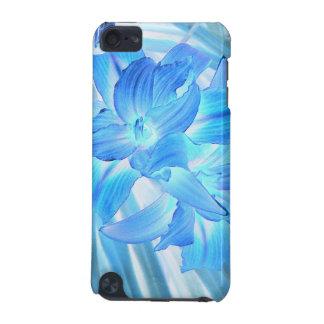 空気のようで青いユリ、冬の花柄のファンタジー iPod TOUCH 5G ケース