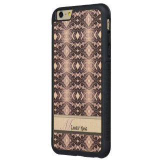 空気のようなダイヤモンド(アメジスト) CarvedメープルiPhone 6 PLUSバンパーケース