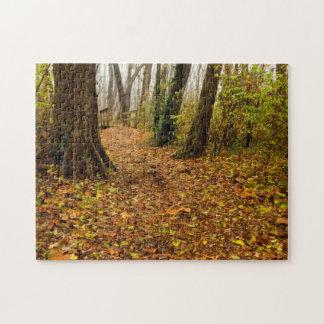 空気のような森の霧深い森林パズル ジグソーパズル