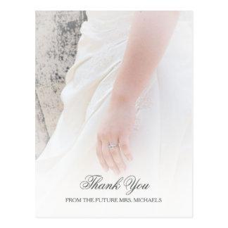 空気のような花嫁手の写真のブライダルシャワーは感謝していしています ポストカード