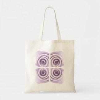 空気のような薄紫の芸術は上がりました トートバッグ