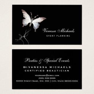 空気のような輝きの蝶エレガントなイベントプランナー 名刺