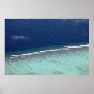 空気のモルディブの珊瑚礁ポスター ポスター