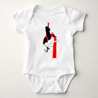 空気の絹のダンサーのジェミニ姿勢 ベビーボディスーツ