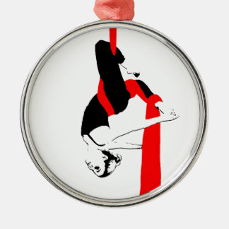 空気の絹のダンサーのジェミニ姿勢 メタルオーナメント