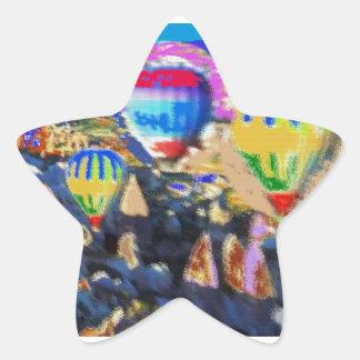 空気ガスの気球ショー 星シール