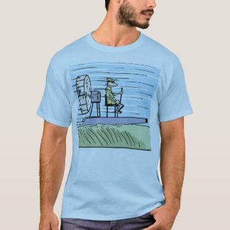 空気ボートの漫画のワイシャツ Tシャツ