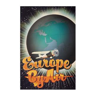 空気ヴィンテージ飛行ポスターによるヨーロッパ アクリルウォールアート