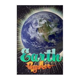 空気ヴィンテージ飛行ポスターによる地球 アクリルウォールアート