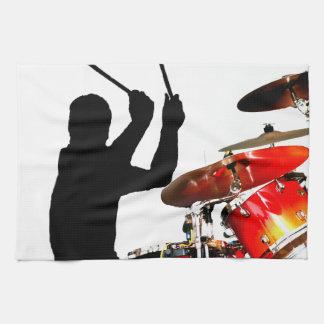 空気影のドラマーの棒はドラムを実在します キッチンタオル
