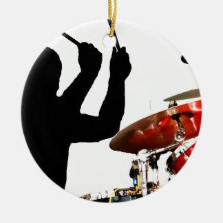 空気影のドラマーの棒はドラムを実在します セラミックオーナメント