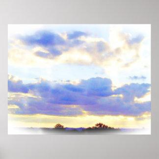 空気要素Skyscape ポスター