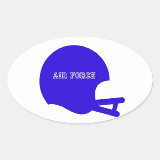 空気|力|ヘルメット|ヴィンテージ|ロゴ 卵形シール・ステッカー