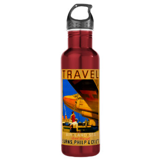 空気、土地、海のレトロ旅行 ウォーターボトル