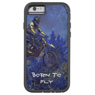 """""""空気""""得ますモトクロスの土バイクのチャンピオンのレーサー TOUGH XTREME iPhone 6 ケース"""