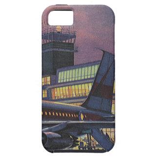 空港の飛行機のヴィンテージビジネス乗客 iPhone SE/5/5s ケース