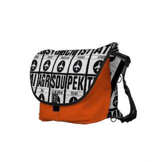 空港コード旅行バッグ クーリエバッグ