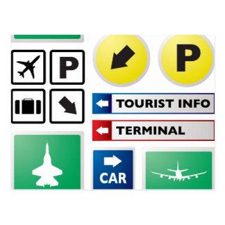 空港概念 ポストカード