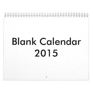 空白のなカレンダー2015年 カレンダー