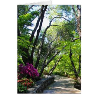 空白のなカード、植物園 カード